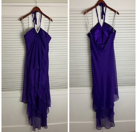 Fiesta Purple Size 18 Polyester Strapless Plus Size Mermaid Dress on Queenly