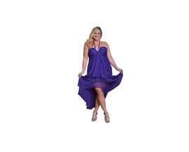 Queenly size 18 Fiesta Purple Mermaid evening gown/formal dress