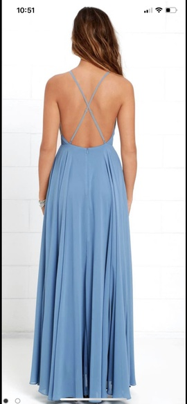 Lulus Blue Size 10 Prom Ball gown on Queenly