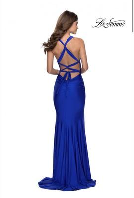 La Femme Blue Size 4 Side slit Dress on Queenly
