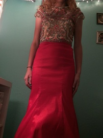 Rachel Allan Red Size 8 Prom Pageant Mermaid Dress on Queenly