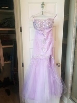 Queenly size 6  Purple Mermaid evening gown/formal dress