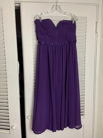 May Queen Purple Size 10 Sweetheart Corset Strapless A-line Dress on Queenly