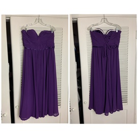 Queenly size 10 May Queen Purple A-line evening gown/formal dress