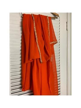 Vintage Orange Size 12 Plus Size Straight Dress on Queenly