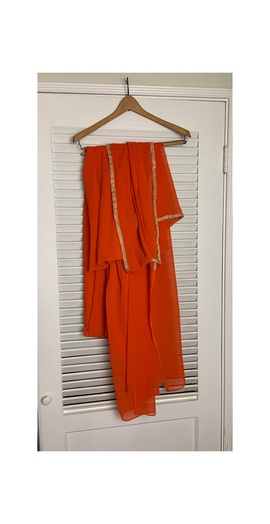 Queenly size 12 Vintage Orange Straight evening gown/formal dress