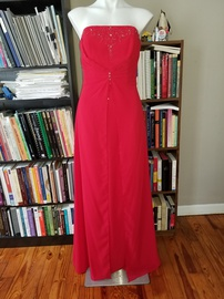 Style 5203 Raylia Designs Red Size 14 Strapless Jersey A-line Dress on Queenly