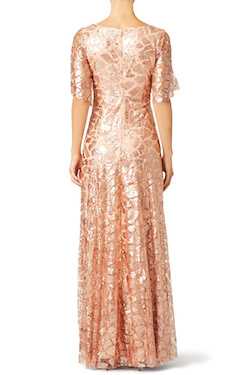 Style not given Slate & Willow Gold Size 2 Sequin Pink Jewelled A-line Dress on Queenly