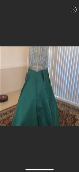 Rachel Allan Green Size 8 Sheer Ball gown on Queenly