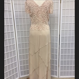 Nude Size 8 Straight Dress on Queenly