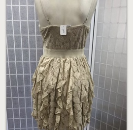 Rachel & Chloe Gold Size 10 Homecoming Bustier A-line Dress on Queenly
