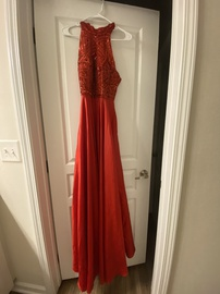 Sherri Hill Red Size 0 Prom Halter Straight Dress on Queenly