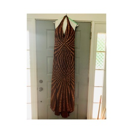 Queenly size 10 Tiffany Designs Gold A-line evening gown/formal dress