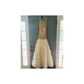 Queenly size 6 Precious Formals Nude Ball gown evening gown/formal dress