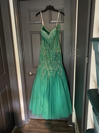 Queenly size 14 Tiffany Designs Green Mermaid evening gown/formal dress