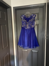Queenly size 16 Hannah Blue Cocktail evening gown/formal dress