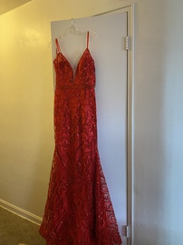 Queenly size 4 Jovani Red Mermaid evening gown/formal dress