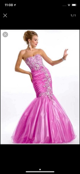 Queenly size 6  Pink Mermaid evening gown/formal dress