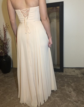 Xscape Nude Size 6 Gold Cape Straight Dress on Queenly