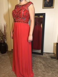 Jovani Red Size 8 Prom Straight Dress on Queenly