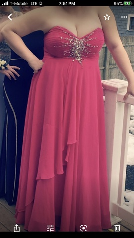Queenly size 18 Night Moves Pink Straight evening gown/formal dress