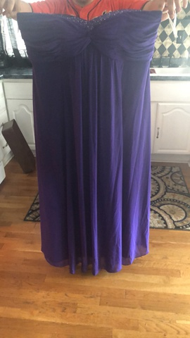 "Queenly size 20 ""b""""David's Bridal"""""" Purple Ball gown evening gown/formal dress"