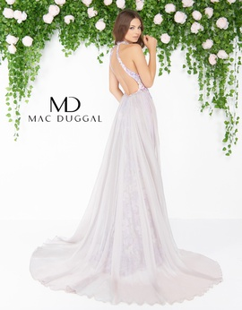Mac Duggal Purple Size 00 Lilac Embroidery Lace Train Dress on Queenly