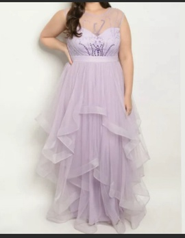 Queenly size 18  Purple Ball gown evening gown/formal dress