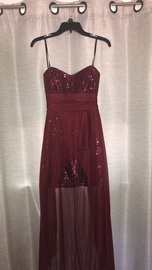 Queenly size 8 Windsor Red Straight evening gown/formal dress