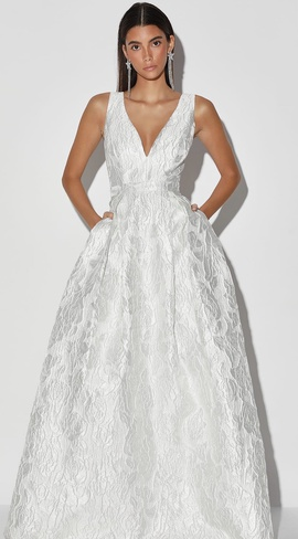 Lulu Silver Size 2 Ball gown on Queenly