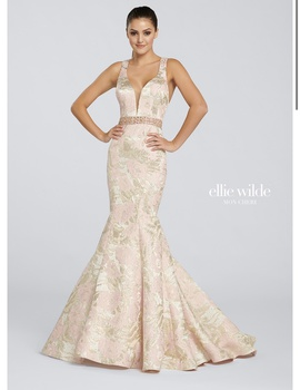 Queenly size 10 Ellie Wilde Gold Mermaid evening gown/formal dress