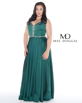 Queenly size 18  Green A-line evening gown/formal dress