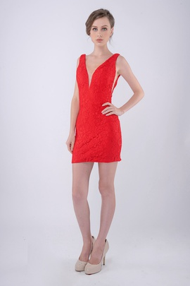 Queenly size 2 Nina Canacci Red Cocktail evening gown/formal dress