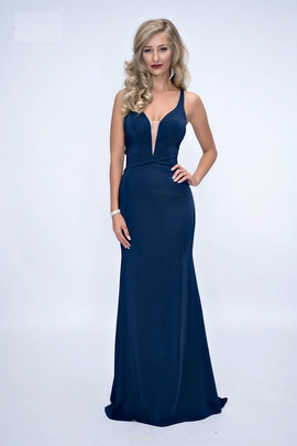 Queenly size 12 Nina Canacci Blue Straight evening gown/formal dress