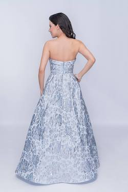 Style 1462 Nina Canacci Blue Size 0 Tall Height Ball gown on Queenly