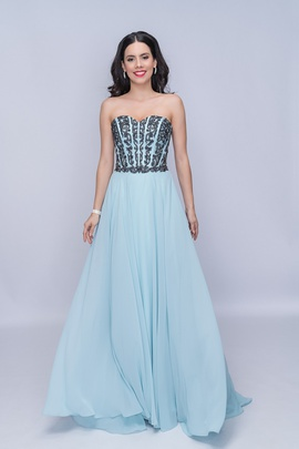 Queenly size 18 Nina Canacci Blue A-line evening gown/formal dress