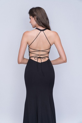 Nina Canacci Black Size 2 Corset Backless Tall Height Side slit Dress on Queenly