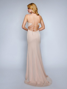 Nina Canacci Nude Size 6 Corset Backless Tall Height Mermaid Dress on Queenly