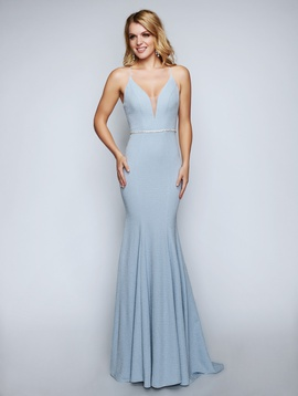 Queenly size 0 Nina Canacci Blue Mermaid evening gown/formal dress