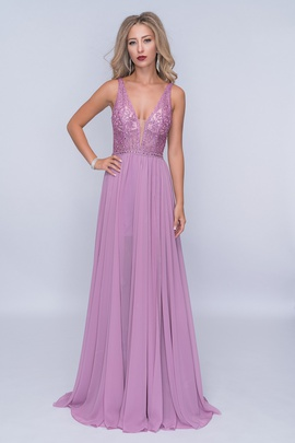 Queenly size 4 Nina Canacci Purple A-line evening gown/formal dress