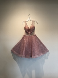 Queenly size 8 Dalmara  Pink Cocktail evening gown/formal dress