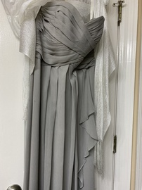 Queenly size 6 Davids Bridal Silver Straight evening gown/formal dress