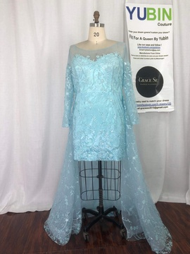Queenly size 22 Yubin Blue Cocktail evening gown/formal dress
