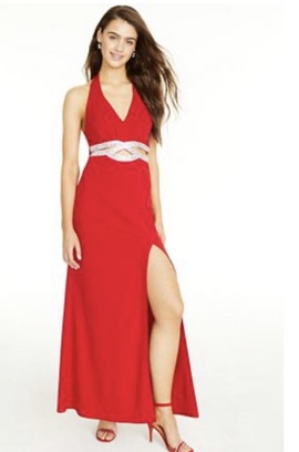 Queenly size 14 Speechless Red Side slit evening gown/formal dress