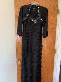 Queenly size 12  Black Straight evening gown/formal dress