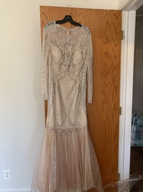 Queenly size 16 Terani couture Pink Mermaid evening gown/formal dress