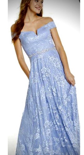 Queenly size 6 Say Yes to the Prom Blue Ball gown evening gown/formal dress