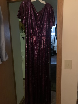 Purple Size 26 Straight Dress on Queenly