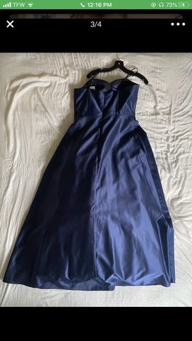 Betsy & Adam Blue Size 14 Betsy And Adam Tall Height Ball gown on Queenly