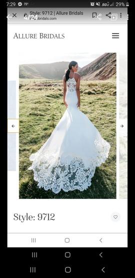 Allure Bridals White Size 12 Train Mermaid Dress on Queenly